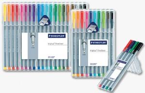 poza Set fineliner Triplus /virf fetru 03 mm / 4 culori/set STAEDTLER