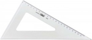 poza Echer 60 grade, 20 cm, plastic transparent, M+R