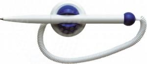 poza Pix plastic cu suport autoadeziv si cu snur, SCHNEIDER Klick-Fix  - corp alb - scriere albastra