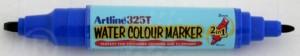 poza Watercolor marker (2 in 1) - cu doua capete - varfuri groase, ARTLINE 325T - albastru
