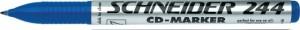 poza CD-marker  varf rotund, 0.7mm, SCHNEIDER 244 - albastru