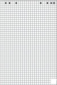 poza Rezerva h�rtie pentru flipchart, 50coli/top (cu microperforatii) Optima