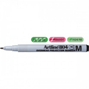 poza OHP Non-Permanent marker medium - 1.0mm, ARTLINE 804 - negru