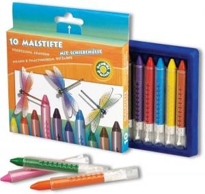 poza Creioane colorate 10 culori asortate, cutie de carton OFFICE POINT