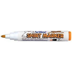 poza T-Shirt Marker, cu vopsea, varf rotund, 2mm, corp plastic, ARTLINE - galben