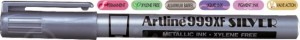 poza Marker cu vopsea varf rotund 0.8mm, corp metalic, ARTLINE 999XF - argintiu