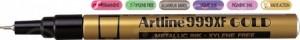 poza Marker cu vopsea varf rotund 0.8mm, corp metalic, ARTLINE 999XF - auriu