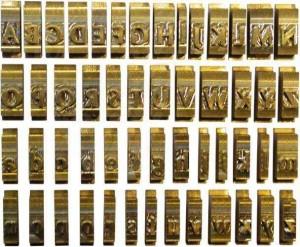 poza Set litere cu font Romanesc, 9 mm, 34 litere/set, OPUS