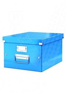 poza Cutie arhivare medie LEITZ Click & Store - albastru