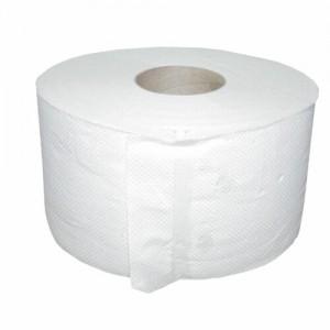 poza Rola Hartie Igienica jumbo, 2 straturi celuloza (450gr/cca 145m) ± 2%, h=10,5cm, d=19cm, comanda minima un bax 12 role, Alb