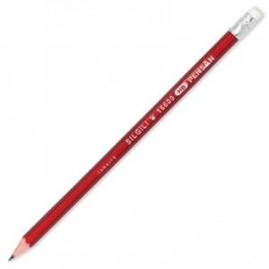 poza Creion cu mina grafit, HB, cu radiera, hexagonal, PENSAN Coral