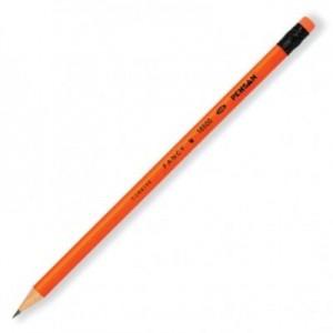 poza Creion cu mina grafit, HB, cu radiera, rotund, PENSAN Fancy