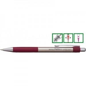 poza Creion mecanic metalic cu rubber grip, 0,5mm, varf metalic, PENAC Pepe - accesorii bordeaux