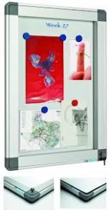 poza Avizier interior/exterior Recto, tabla alba magnetica, 6 x A4, 60 x 63 cm, SMIT