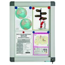poza Avizier interior/exterior Recto, tabla alba magnetica, 12 x A4, 90 x 85 cm, SMIT