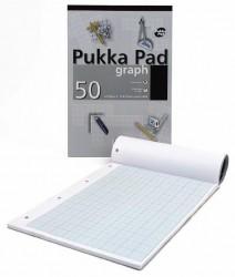 poza Blocnotes A4, 25 file - 80g/mp, hartie milimetrica (2-10-20mm), coperti carton, PUKKA Refill Graph