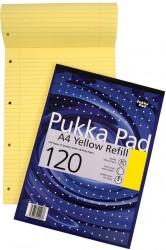 poza Blocnotes A4, 60 file, 80g/mp, hartie galbena, coperti carton, PUKKA Refill Yellow - dictando