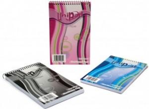 poza Blocnotes cu spirala 203 x 128mm, 80 file 60g/mp, coperti carton, PUKKA Unipad Shorthand - dictando
