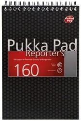 poza Blocnotes cu spirala 205 x 140mm, 80 file 80g/mp, coperti carton, PUKKA City Reporter - dictando