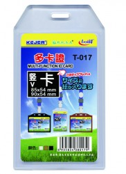 poza Buzunar dubla fata pentru ID carduri, PVC flexibil, 54 x 85mm, vertical, 5 buc/set, KEJEA - transp.
