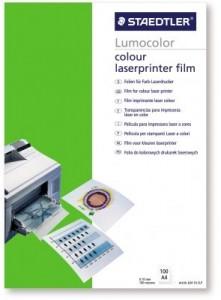poza Film pt. retroproiector, A4, imprimare laser color, 50 buc/top, STAEDTLER Lumocolor