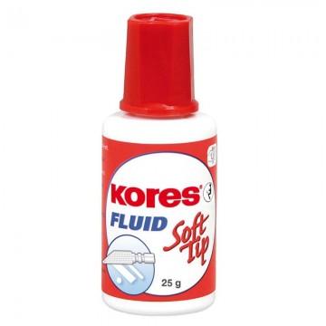 poza Fluid corector cu burete pe baza de solvent 20ml KORES