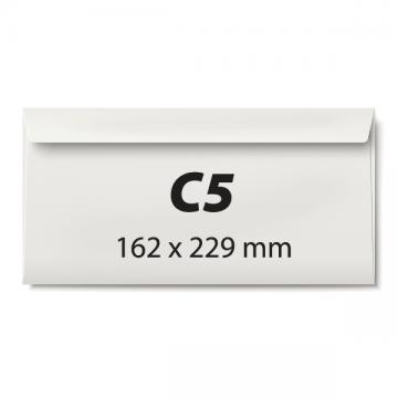 poza Plic C5, 162 x 229 mm, alb, siliconic, 80 g/mp, 25 bucati/set