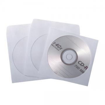 poza Plic CD, 124 x 127 mm, fereastra, alb, gumat , 90 g/mp