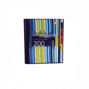 poza Project file A4 (caiet mecanic cu buzunar), 100 file 80g/mp, cu 4 inele, Pukka Pad - dictando - albastru