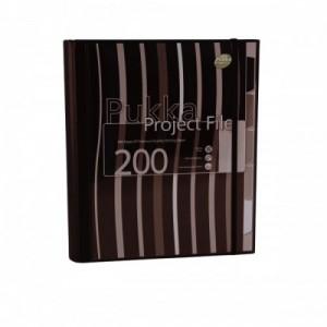 poza Project file A4 (caiet mecanic cu buzunar), 100 file 80g/mp, cu 4 inele, Pukka Pad - dictando - negru
