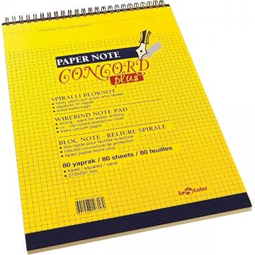 poza Bloc notes cu spira A4 LeColor Concord Plus 80 file, Dictando