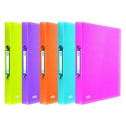 poza Caiet mecanic 4 inele, PP, A4, Elba-Urban, culori transparente asortate
