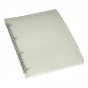 poza Caiet mecanic cu coperti flexibile, 4 inele, D 15 mm, ELBA Hawai - transparent cristal
