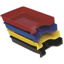 poza Tavita plastic documente Ark fumuriu, transparent ,negru, rosu, albastru, galben, verde