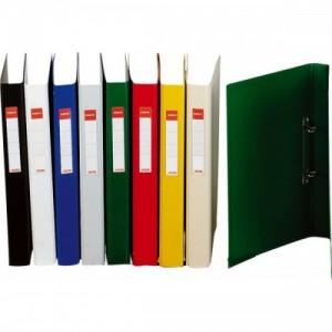 poza Caiet mecanic A5, plastifiat PP, 2 inele, ESSELTE Standard - verde