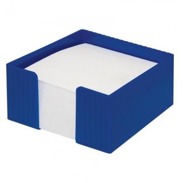 poza Suport plastic pentru cub hartie Flaro albastru