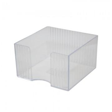 poza Suport plastic pentru cub hartie Flaro fumuriu