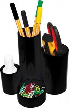 poza Suport plastic 4 comaprtimente pentru instrumente de scris Flaro