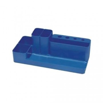 poza Suport plastic pentru accesorii birou Flaro - albastru