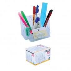 poza Suport plastic cu 6 compartimente pentru accesorii birou Ark