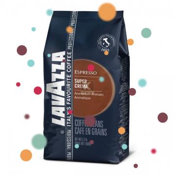 poza Cafea boabe 1kg Lavazza Super Crema