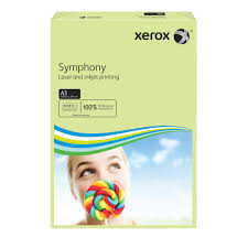 poza Hartie color, A3, 80 g/mp, verde deschis, 500 coli/top, XEROX Symphony