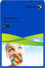 poza Carton color, A4, 160 g/mp, albastru inchis, 250 coli/top, XEROX Symphony