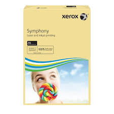 poza Carton color, A4, 160 g/mp, ivory, 250 coli/top, XEROX Symphony
