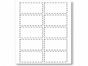 poza Carton alb pentru carti vizita 51 x 89 mm, 200g/mp, 25 coli/set, Geographics