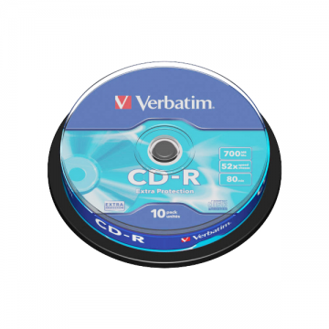 poza CD-R, 700MB, 52X, 10 buc/bulk, VERBATIM Extra Protection