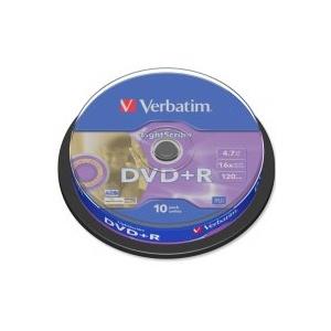 poza DVD+R, 4.7GB, 16X, 10 buc/bulk, VERBATIM LightScribe