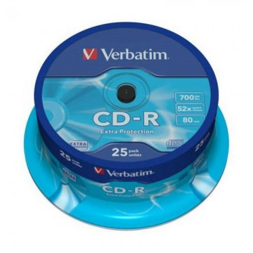 poza CD-R, 700MB, 52X, 25 buc/bulk, VERBATIM Extra Protection
