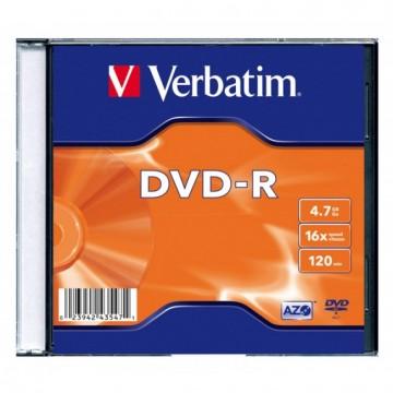 poza DVD+R, 4.7GB, 16X, carcasa slim, VERBATIM Matt Silver