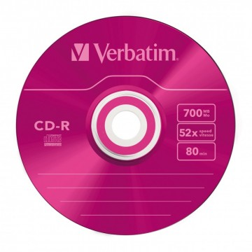 poza CD-R, 700MB, 52X, carcasa slim, VERBATIM Azo Colour